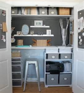 Closet turned home office and craft space the crazy craft lady