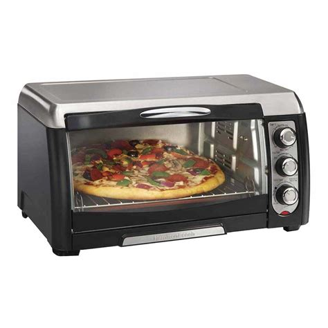 Toaster Oven With Auto Slide Out Rack Hamilton Beach 31331 17 68 Quot Convection Toaster Oven W