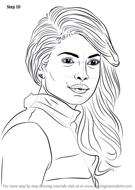 learn   draw priyanka chopra celebrities step  step drawing tutorials