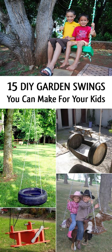 swing you 15 diy garden swings you can make for your kids