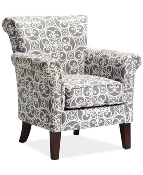 Printed Accent Chair Printed Fabric Accent Chair Direct Ship Furniture Macy S
