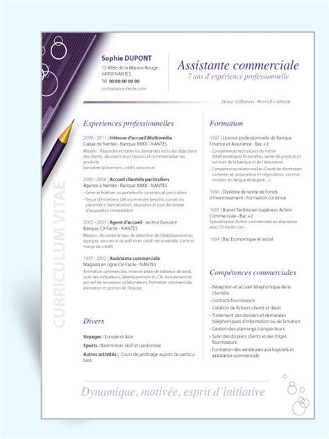 Modele Cv Commercial Word by Modele Cv Commercial Word Cv Exemple Word Simple
