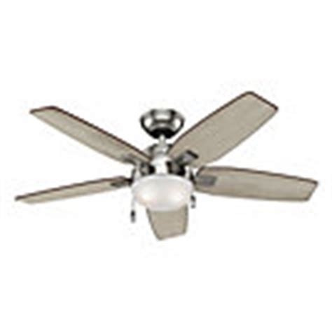 hunter antero fan 54 hunter antero 46 inch brushed nickel indoor ceiling fan