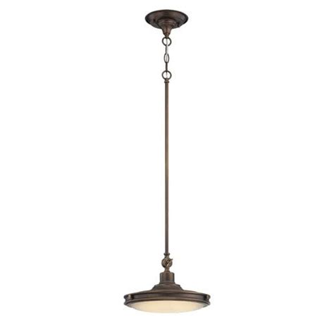 Nuvo Lighting Houston Rustic Brass One Light Led Pendant Pendant Lighting Houston
