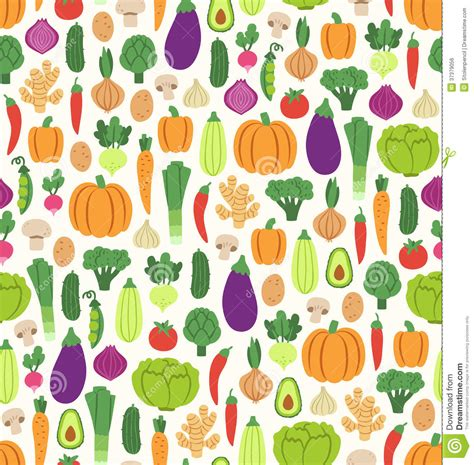 flat background pattern free flat vegetables pattern royalty free stock image image