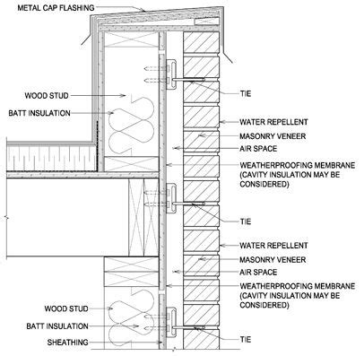 parapet wall wood parapet wall detail detail drawings