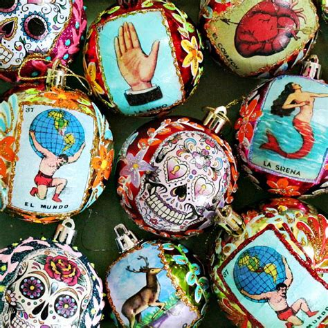 vintage mexican homemade ornaments