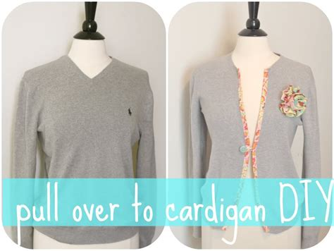 diy sweater diy sweater to cardigan sweater jacket