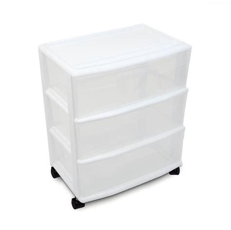 Kmart Storage Drawers by Essential Home 3 Drawer Wide Storage Cart