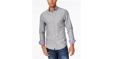 park west s contrast cuff sleeve shirt only at