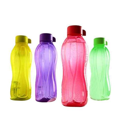 Botol Tupperware 1 Ltr tupperware multi coloured 1 ltr bottle set 4 pcs buy at best price in india snapdeal