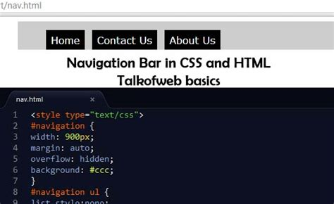 html css top bar creating minimal navigation bar using css and html