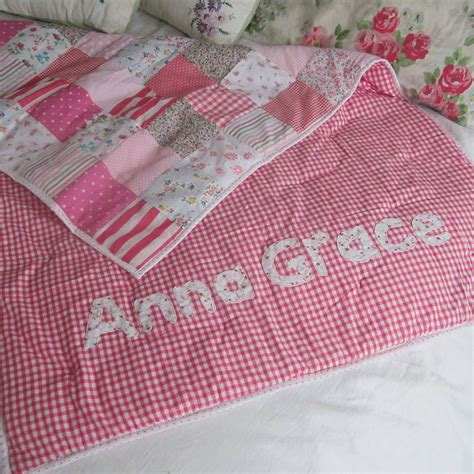 Patchwork Cot Quilts - patchwork quilt personalised and boys by the
