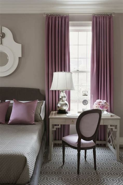 chambre gris et violet 1001 id 233 es pour la d 233 coration d une chambre gris et violet