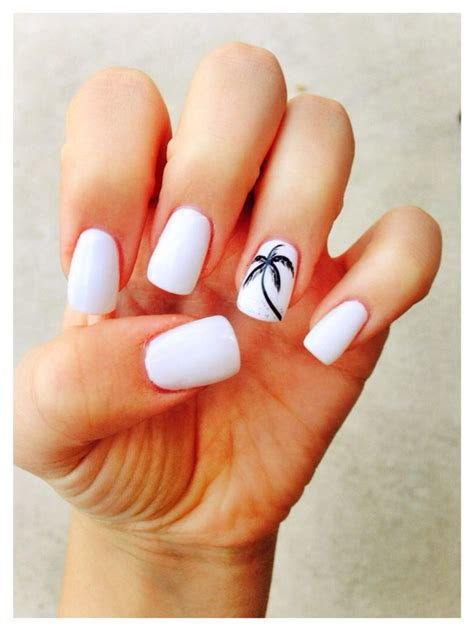 Nail Nail by Palm Tree White Nails For Maternity Inspiration Shop Here