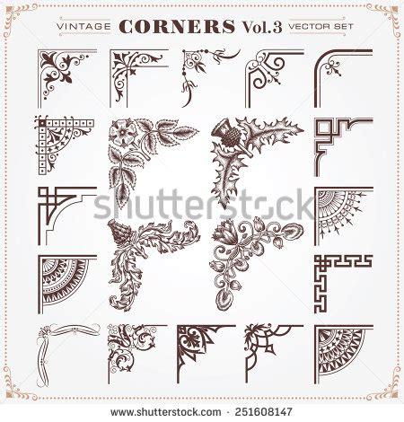 vintage design elements corners vector free vintage style design elements corners borders stock vector