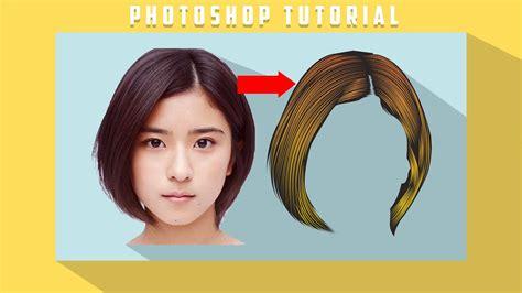 tutorial  mudah membuat vector rambut photoshop cs