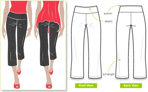 pattern review style arc elle pant cruising kate pant style arc
