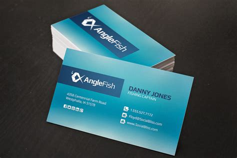 Charter Gift Card - fishing charter business cards business card templates on creative market