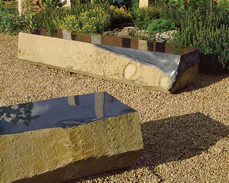 landscape bench basalt slab benches from stone forest new landscape