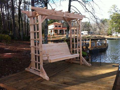 cypress swing cypress arbor and swing by todd adair lumberjocks com