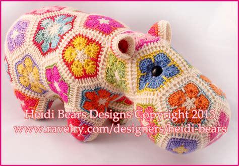 free pattern heidi bears heidi bears happypotamus the happy hippo crochet pattern