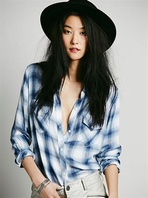 Draped In Plaid by Free Draped In Plaid Shirt In Blue Lyst