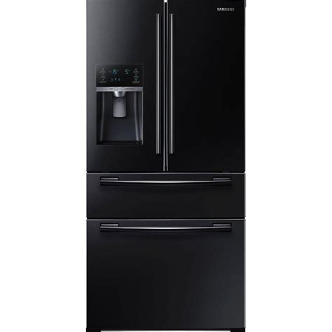 Refrigerator Doors by Samsung 33 In W 24 73 Cu Ft 4 Door Door Refrigerator In Black Rf25hmedbbc The Home Depot