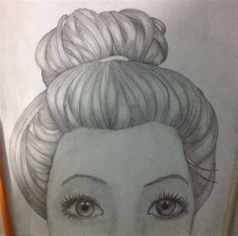 bun hairstyles drawing how to draw messy hair bun newhairstylesformen2014 com