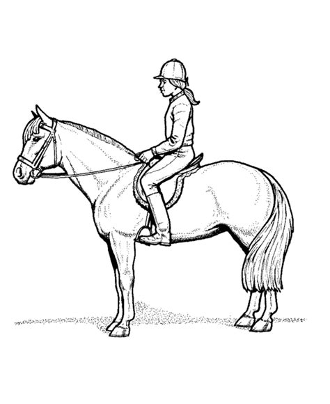 coloring pages of horse riding free coloring pages of horse riding