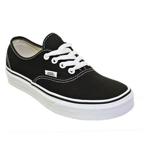 womens vans authentic black white lace up