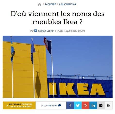 Lu Ikea lu d o 249 viennent les noms des meubles ikea