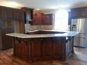 Kitchen Islands And Bars Beautiful New Kitchen Using Osborne Modified Bar Corbels