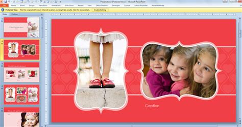 powerpoint themes photo album free widescreen valentine s day powerpoint template