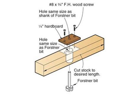 bore perpendicular holes   drill press wood magazine