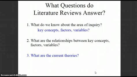 template for writing a literature review how to write a mini literature review