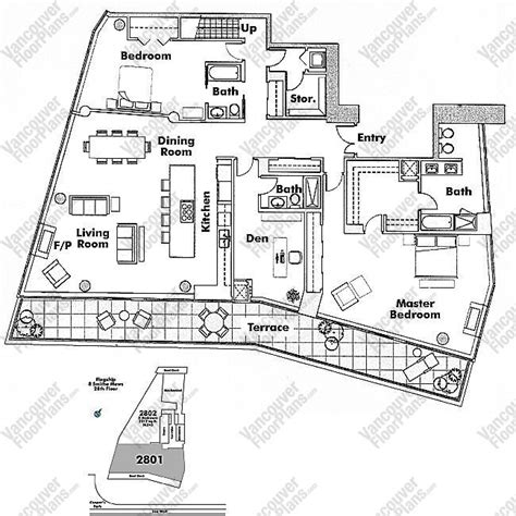 vancouver floor plans 2801 8 smithe mews vancouver floor plans