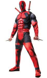 deadpool costume halloween city mens official deluxe marvel deadpool muscle chest
