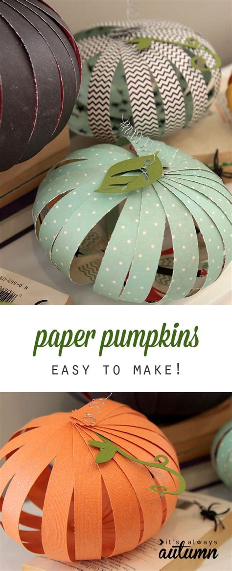 Paper Pumpkin Crafts For - best 25 pumpkin ideas only on