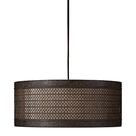 Metal Drum Pendant Light Buy Uttermost Alita 3 Light Metal Hanging Shade L In Aged Black Bronze From Bed Bath Beyond