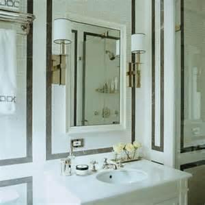 borders bathroom: black marble border tiles transitional bathroom sandra nunnerley