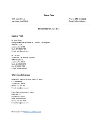 Resume Reference Page by The Best Way To References On A Resume With Sles
