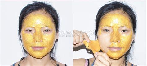 Masker Lumpur Liyanshijia 24k Active Gold Whitening Mask 24k gold mask active mask powder brightening luxury spa anti aging wrinkle treatment