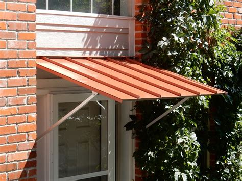 picture of an awning austin standing seam door awning