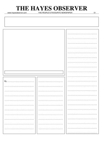 newspaper editorial template worksheet newspaper template kidz activities