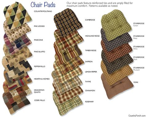 Dining Room Chair Seat Cushions by Cotton Tufted Chair Pads With Ties
