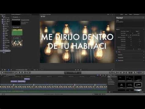 tutorial lyric video tutorial para hacer video lyric paso a paso con final cut