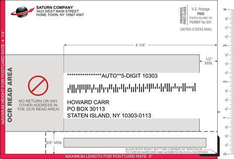 postcard printable area how to design direct mail for postage savings