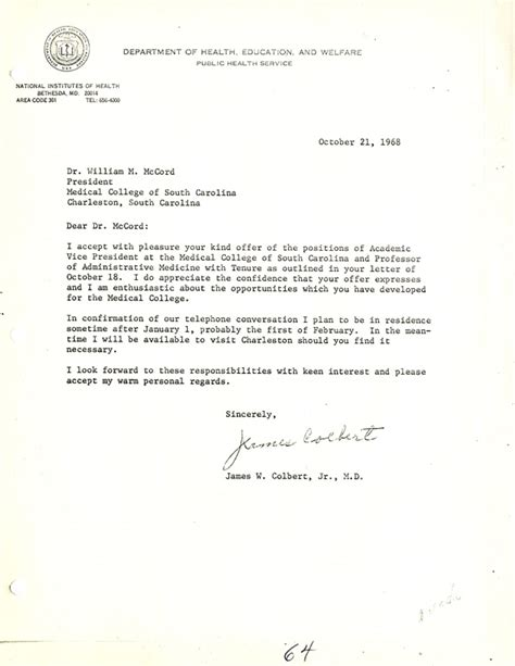 Acceptance Letter Of Houston Letter From Brown Chaplain Julius S Jr To Mlk Acceptance Visit Letter