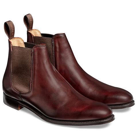 mens burgundy chelsea boots cheaney threadneedle s burgundy chelsea boot made